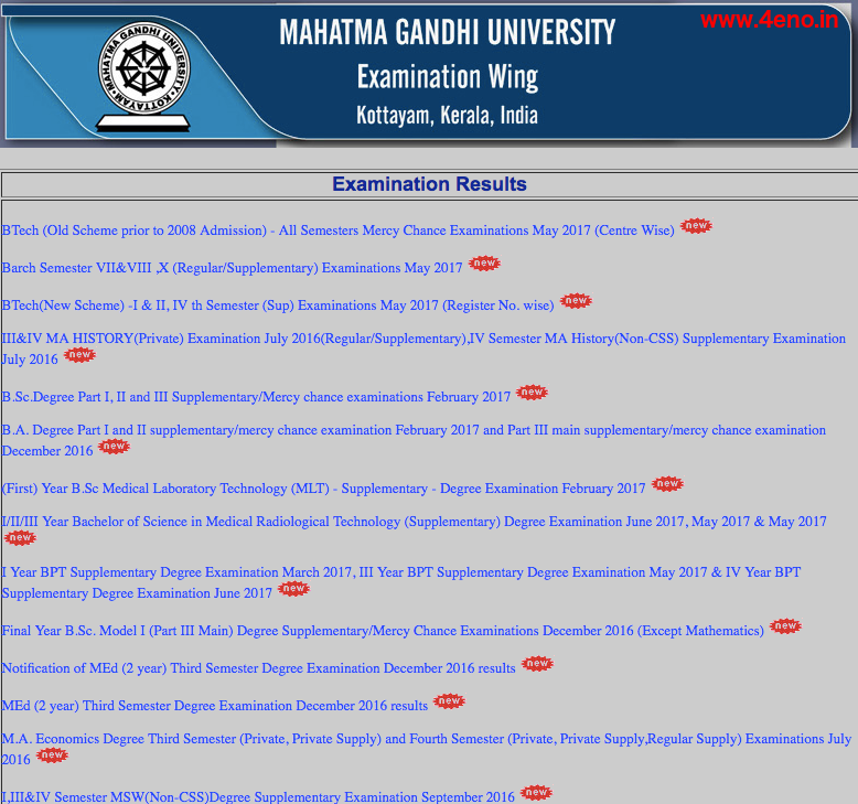 mgu professional courses result