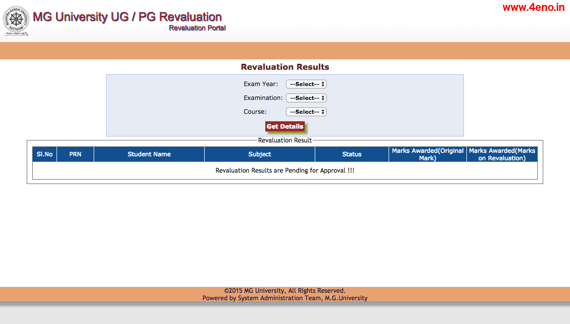 mgu revaluation result
