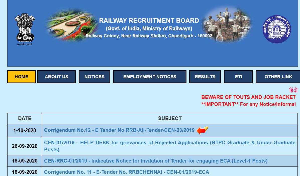 Railway RRB Group C Jobs Vacancy