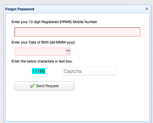 forget hrms password